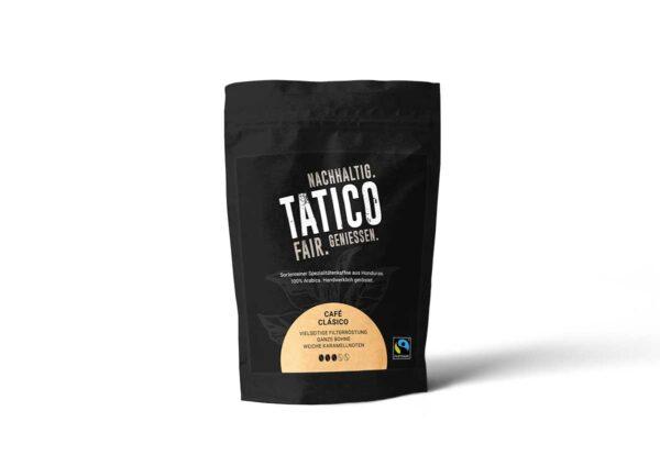 Verpackung Tatico Café Clásico - ganze Bohne 250g