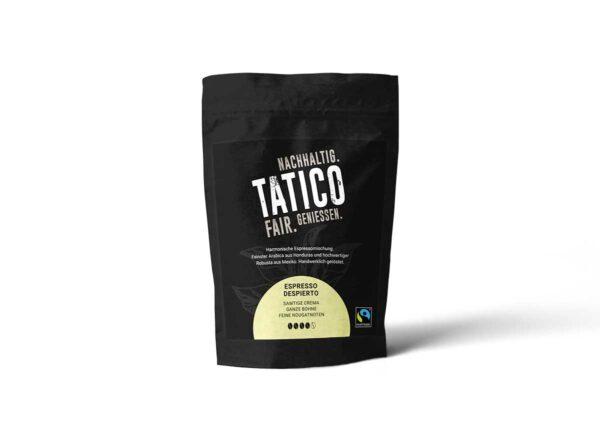 Verpackung Tatico Espresso Despierto - ganze Bohne 500g